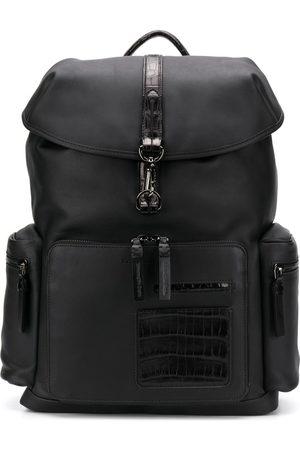Ermenegildo Zegna Crocodile effect leather backpack
