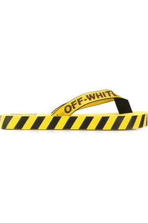 OFF-WHITE Heren Teenslippers - Logo print flip flops
