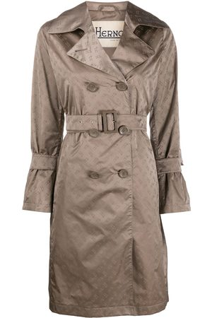 HERNO Logo print trench coat