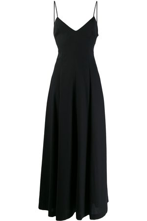 Ami Dames Lange jurken - Wide v-neck maxi dress