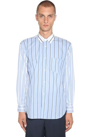 Comme des Garçons Striped Cotton Poplin Shirt