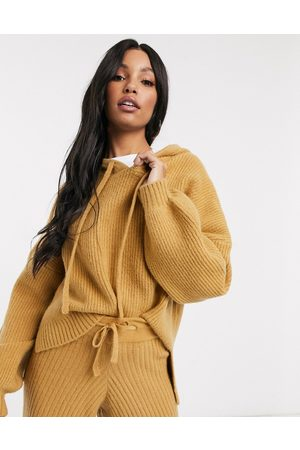 Missguided Outfit sets - Co-ord knitted hoodie in camel