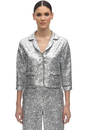 In the Mood for Love Sequined Crop Pajama Top