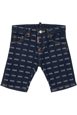 Dsquared2 All Over Icon Print Stretch Shorts