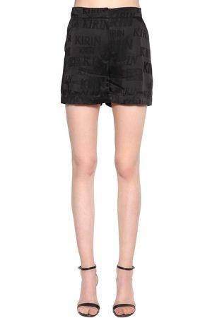 Kirin Typo Logo Fluid Satin Jacquard Shorts