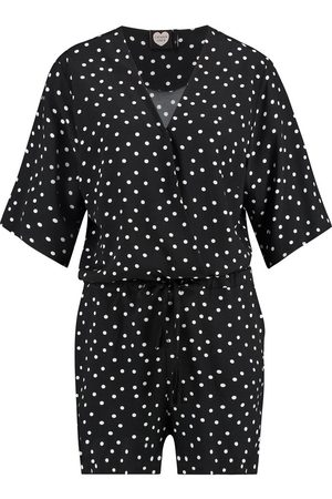 Catwalk Junkie Dames Playsuits - Ps White dots /