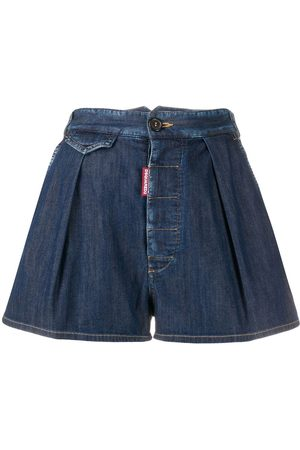 Dsquared2 Pleated denim shorts