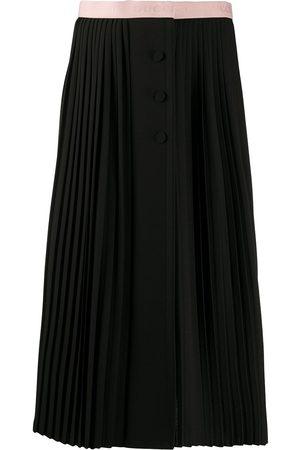 Gucci Logo waistband pleated skirt