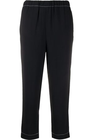 Marni Contrast-trim cropped trousers