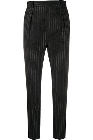 Saint Laurent Pinstripe high-waisted trousers