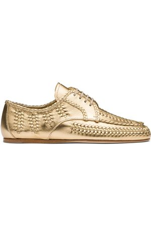Prada Lace-up calf leather shoes