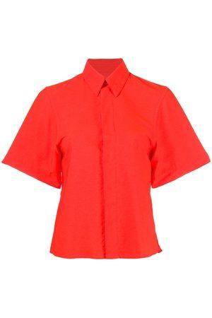 Ami Dames Korte mouw - Concealed fastening short-sleeve shirt