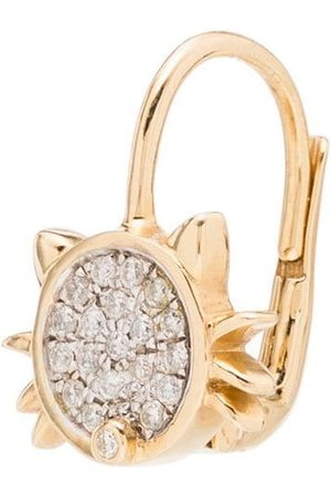 YVONNE LÉON Dames Oorbellen - Cat 18kt diamond earring