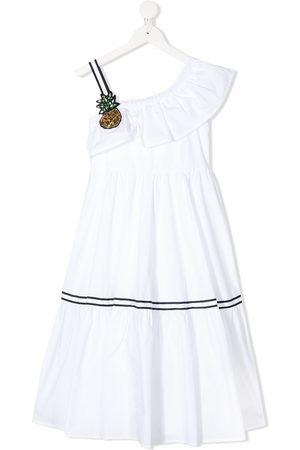 MONNALISA One-shoulder pineapple dress