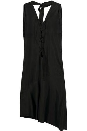ROMEO GIGLI 1990s lace-up asymmetric dress