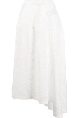 Jil Sander Crochet-lace asymmetric midi skirt