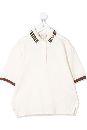 Gucci Web embroidered polo shirt