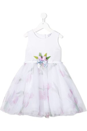 MONNALISA Tulip print tulle dress