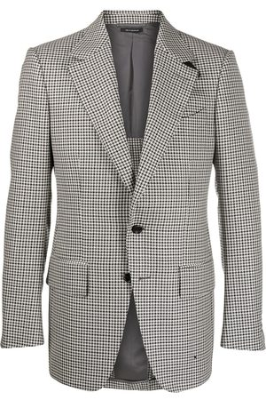 Tom Ford Single breasted houndstooth blazer