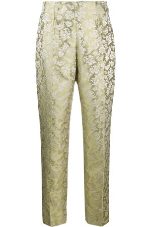 ROMEO GIGLI 1990s floral jacquard tailored trousers