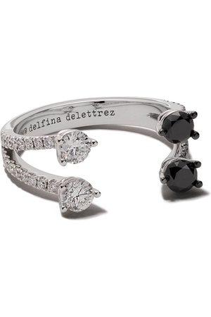 DELFINA DELETTREZ 18kt Domino Dots diamond ring