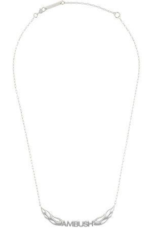 AMBUSH Sterling flames logo necklace