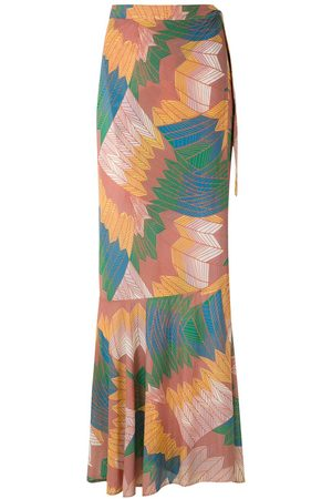 AMIR SLAMA Cocar wrap skirt
