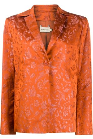 ROMEO GIGLI 1990s floral print straight-fit blazer