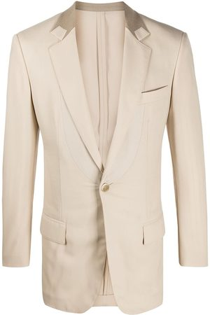 Gianfranco Ferré Heren Donsjassen - 1990s contrast detail slim-fit blazer
