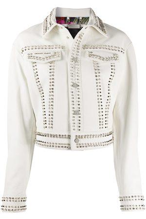 Philipp Plein Dames Donsjassen - Skull stud leather jacket