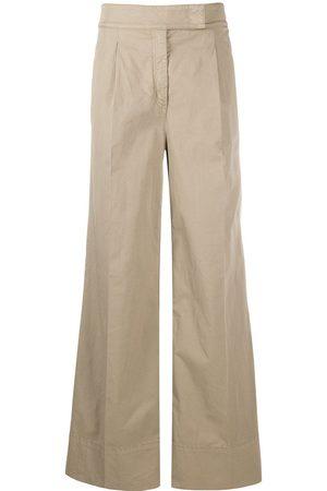Nº21 High-waisted wide-leg trousers