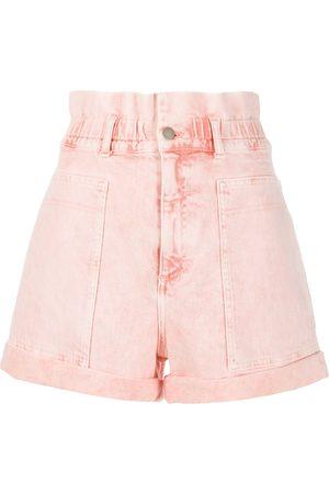 Stella McCartney Distressed high-rise denim shorts