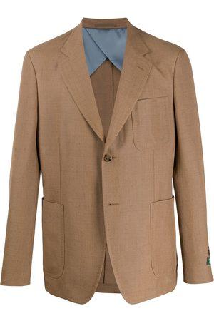 Gucci Single-breasted plain blazer