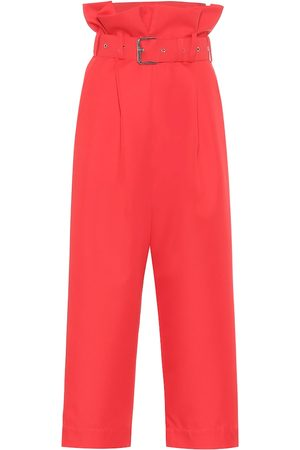 Plan C High-rise cropped straight pants