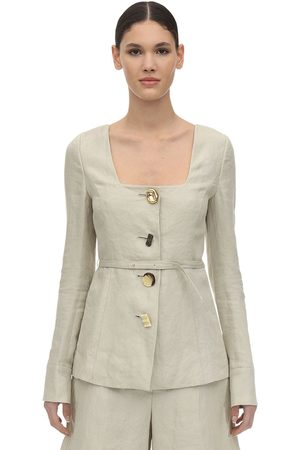 REJINA PYO Martina Linen & Cotton Twill Jacket