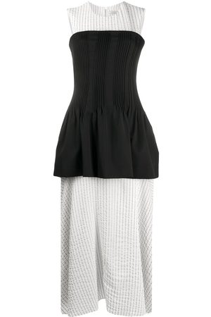 Nina Ricci Layered striped-panel dress