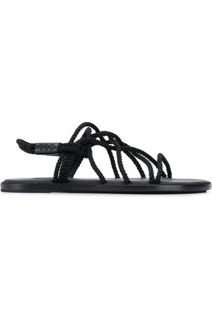 ANN DEMEULEMEESTER Rope strap flat sandals