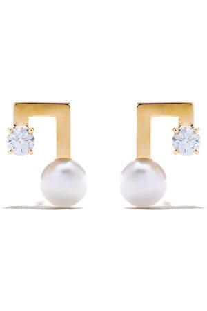 Tasaki Petit balance note earrings