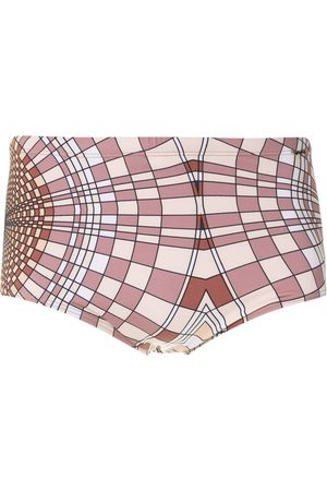 AMIR SLAMA Cocar print trunks