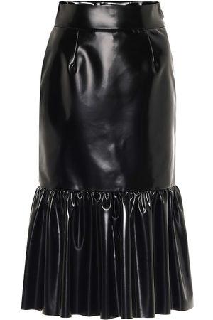 Miu Miu Faux leather midi skirt