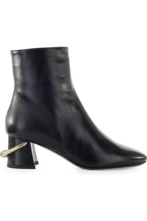 L'Autre Chose Chose Black Leather Ankle Boot