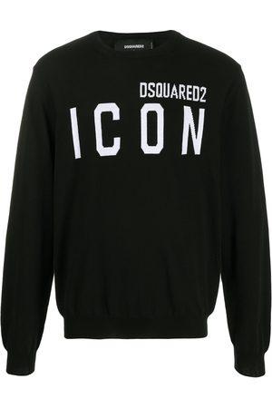 Dsquared2 Heren Gebreide truien - ICON logo intarsia jumper