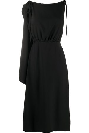 Prada One shoulder midi dress