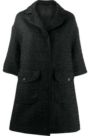 HERNO Elbow-length sleeved tweed coat
