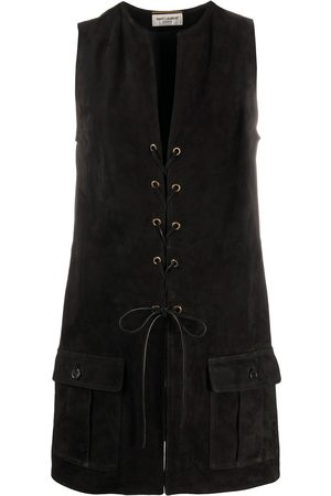 Saint Laurent Lace-up detail vest
