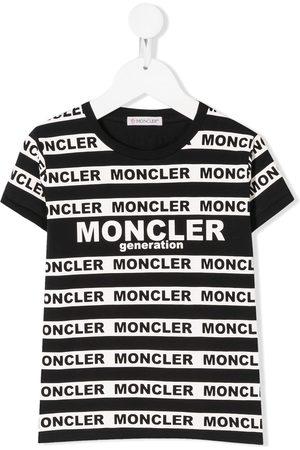 Moncler Striped logo-print T-shirt