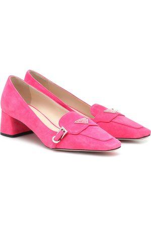 Prada Logo suede loafers