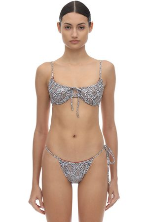PALM SWIM Viper Paisley Bikini Top W/ Underwire
