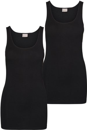 Vero Moda 2 Pack Long Tank Top Dames Zwart
