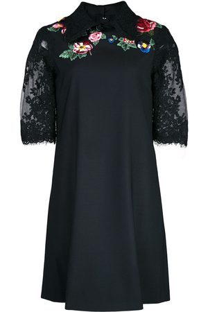 Marchesa Floral lace embroidered mini dress